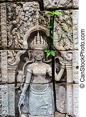 Angkor Wat ruins and arts
