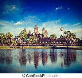 Angkor Wat - Vintage retro effect filtered hipster style...