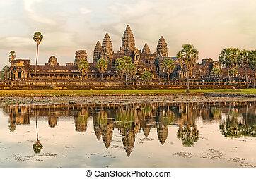 Angkor Wat - Iconic Angkor Wat reflecting in Lake, Siem...
