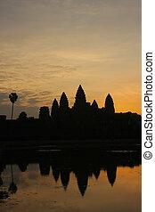 Angkor Wat temple at sunrise