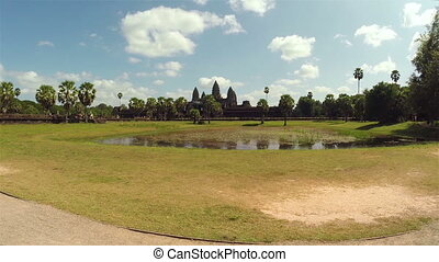 Angkor Wat temple in Siem Reap, Cambodia, steadicam shot