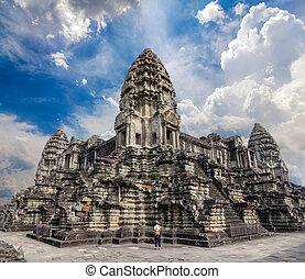 Angkor Wat temple. XXL size panorama.