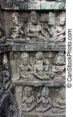 angkor wat wall figures