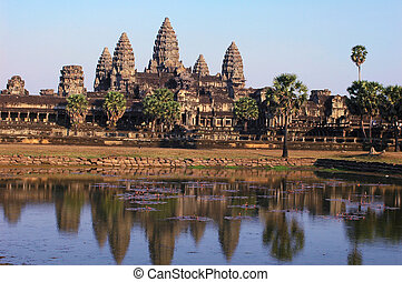 Angkor,Cambodia - Landscape of the famous Angkor Thom in...