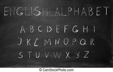 anglaise, alphabet, six, lettres, vingt