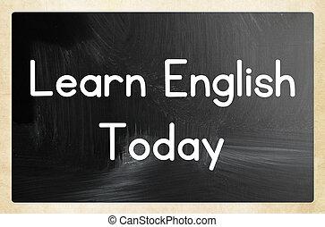 anglaise, aujourd'hui, apprendre