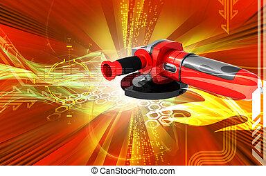 Angle grinder - Digital illustration of angle grinder in...