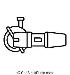 Angle grinder icon, outline style
