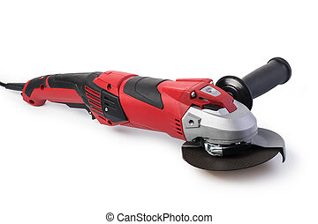 Angle grinder isolated on a white background
