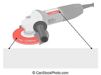 Angle grinder safety tips. - Angle grinder disc speed limit...