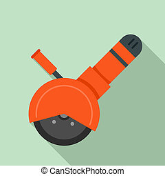 Angle grinder tool icon, flat style