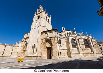angle, large, palencia, cathédrale, coup