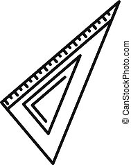 Angle ruler icon, outline style