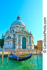 Santa Maria della Salute church in Venice - Angle shot of ...