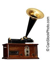angle, vieux, radio
