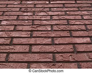Angle view of brick wall