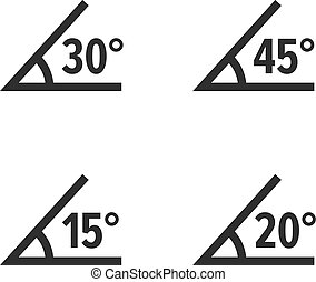 Angle with value in degrees, set