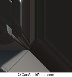 Angled geometric abstract - 3d geometric abstract metallic...