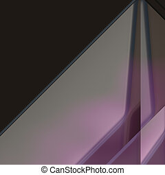Angled geometric abstract - 3d geometric abstract metallic...