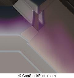 Angled geometric abstract