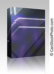 Angled geometric abstract box package - Software package box...