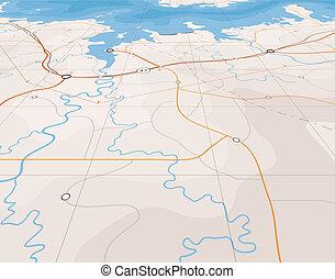 Generic editable vector map of a coastline with no names