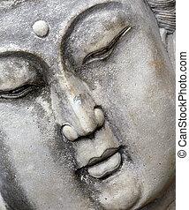 Angled Oriental Statue - Buddist statue of woman meditating...