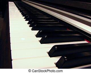 angled piano keys