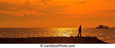 Angler sunset