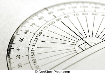 angles - printed protractor for geometry measurement