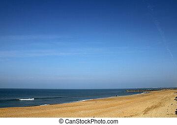 anglet, praia, inverno