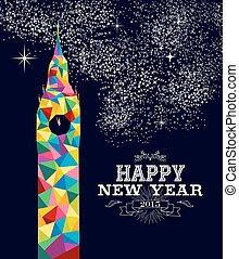 angleterre, affiche, conception, année, 2015, nouveau