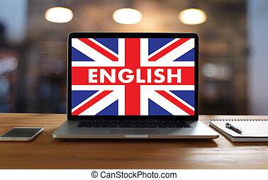 angleterre, langue, anglaise, ), (, ligne, britannique, ...