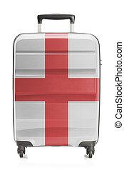 angleterre, série, national, -, drapeau, valise