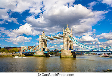 angleterre, symbole, -, pont tour londres
