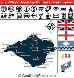 angleterre, wight, royaume-uni, est, île, sud