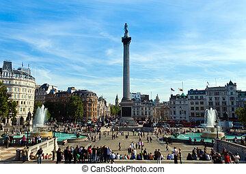 anglia, londyn, trafalgar plac