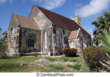 Old stone anglican church in caribean island Barbados