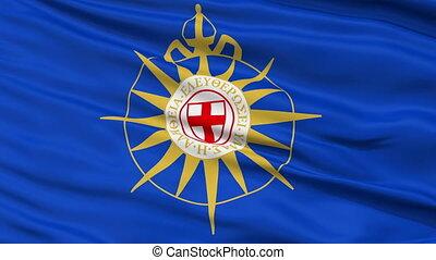 Anglican Communion Religious Close Up Waving Flag