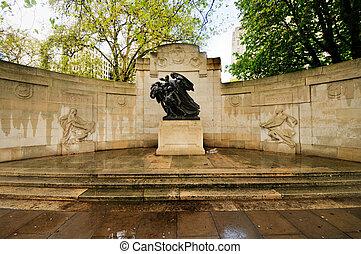 anglo-belgian, minnesmärke, london, uk