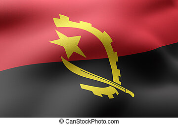 Angola 3d flag