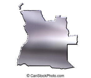 Angola 3D Silver Map