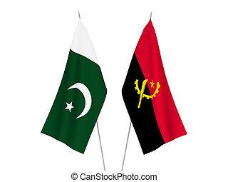 Angola and Pakistan flags - National fabric flags of Angola ...