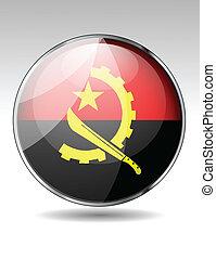 Angola flag button