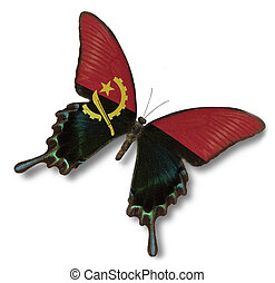Angola flag on butterfly