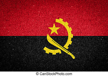 Angola flag on paper background