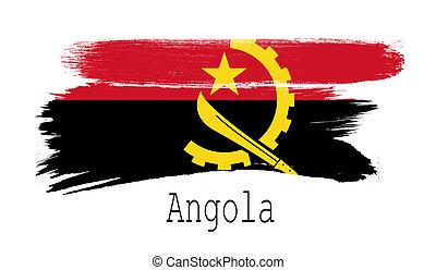 Angola flag on white background