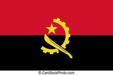 Angola flag vector. Flag of Republic of Angola.
