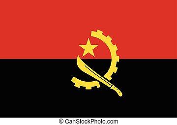 Angola Flag. Vector Format