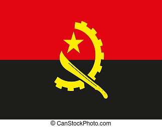 Angola flag vector illustration EPS10